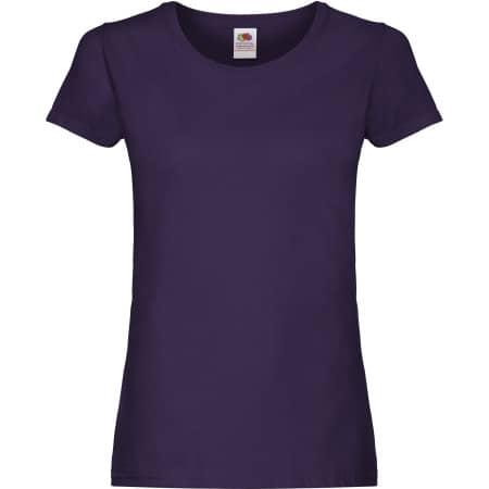 Ladies Original T in Purple von Fruit of the Loom (Artnum: F111