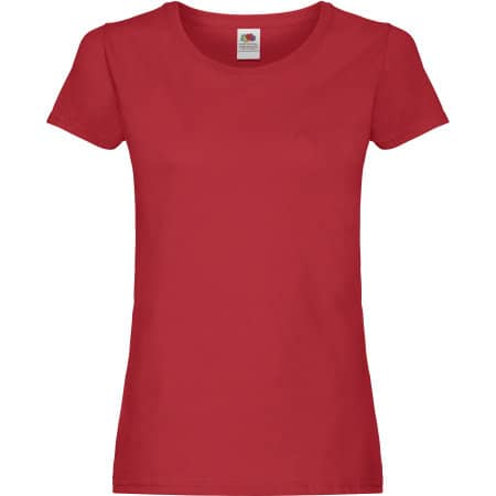 Ladies Original T in Red von Fruit of the Loom (Artnum: F111