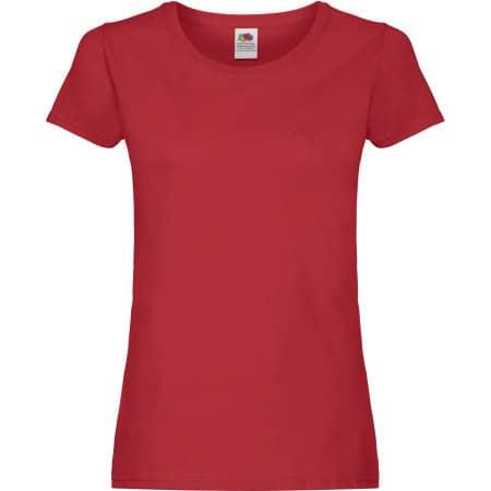Ladies Original T in Red von Fruit of the Loom (Artnum: F111
