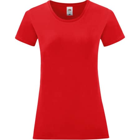Ladies Iconic T in Red von Fruit of the Loom (Artnum: F131