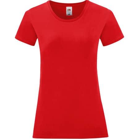 Ladies Iconic T in Red von Fruit of the Loom (Artnum: F131