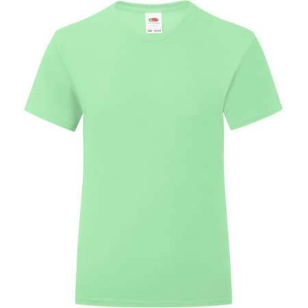 Girls Iconic T in Neo Mint von Fruit of the Loom (Artnum: F131K