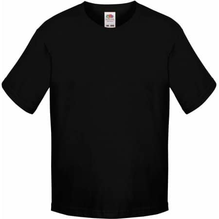 Sofspun® T Kids in Black von Fruit of the Loom (Artnum: F150k