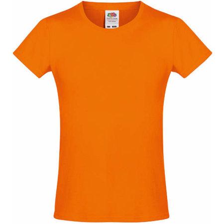 Sofspun® T Girls in Orange von Fruit of the Loom (Artnum: F151k