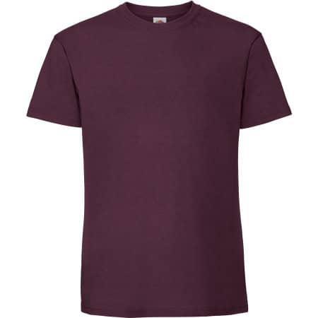 Ringspun Premium T in Burgundy von Fruit of the Loom (Artnum: F185