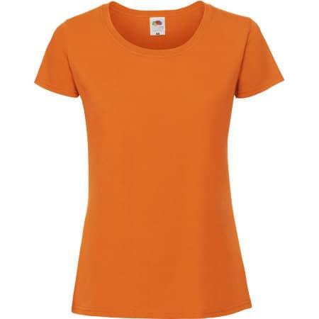 Ladies Ringspun Premium T in Orange von Fruit of the Loom (Artnum: F186
