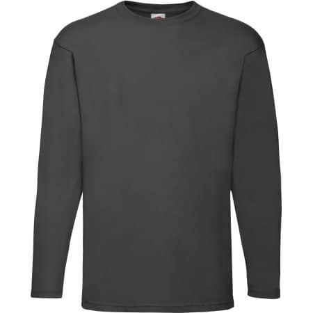 Valueweight Long Sleeve T in Light Graphite (Solid) von Fruit of the Loom (Artnum: F240