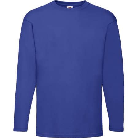 Valueweight Long Sleeve T in Royal Blue von Fruit of the Loom (Artnum: F240