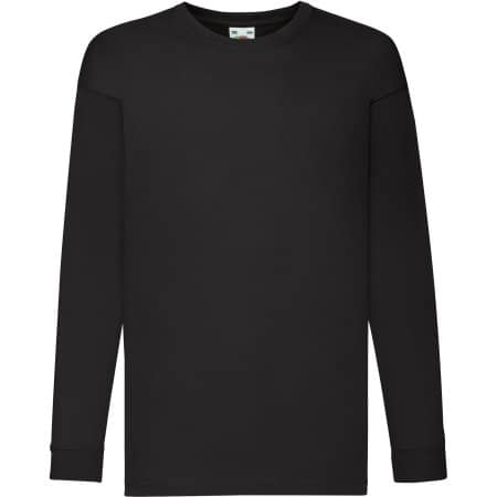 Long Sleeve Valueweight T Kids in Black von Fruit of the Loom (Artnum: F240K