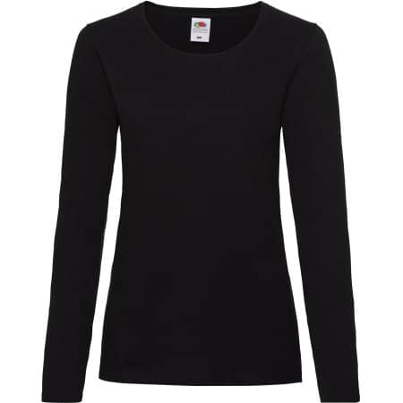 Valueweight Long Sleeve T Lady-Fit in Black von Fruit of the Loom (Artnum: F242N