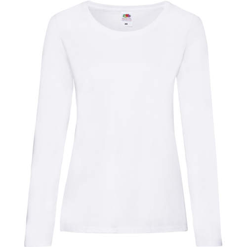 Fruit of the Loom - Valueweight Long Sleeve T Lady-Fit