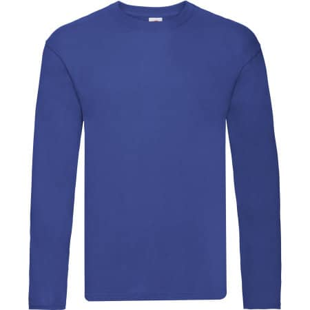 Original Long Sleeve T in Royal Blue von Fruit of the Loom (Artnum: F243