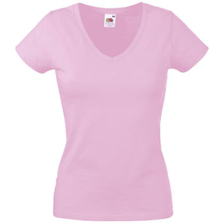 Valueweight V-Neck T Lady-Fit in Light Pink von Fruit of the Loom (Artnum: F271N
