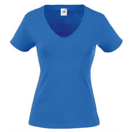 Valueweight V-Neck T Lady-Fit in Royal Blue von Fruit of the Loom (Artnum: F271N