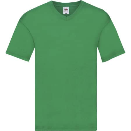Original V-Neck T in Kelly Green von Fruit of the Loom (Artnum: F272