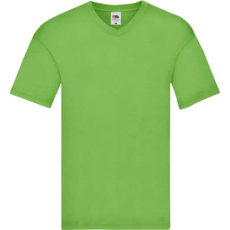 Original V-Neck T in Lime von Fruit of the Loom (Artnum: F272