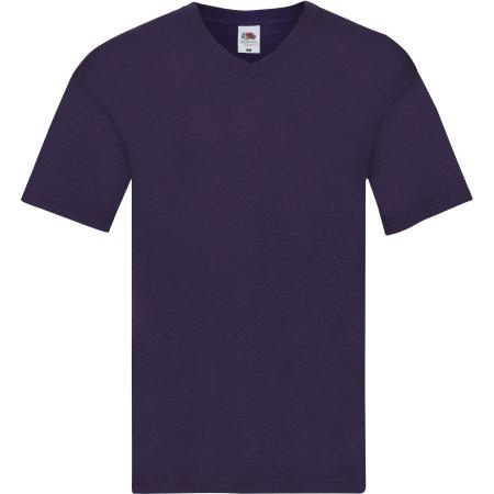 Original V-Neck T in Purple von Fruit of the Loom (Artnum: F272