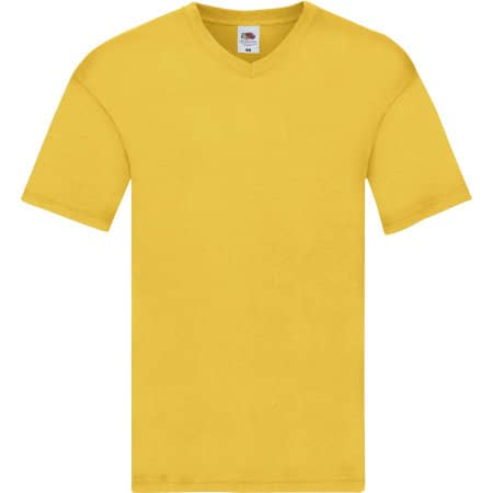 Original V-Neck T in Sunflower von Fruit of the Loom (Artnum: F272