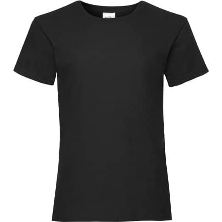 Valueweight T Girls in Black von Fruit of the Loom (Artnum: F288K
