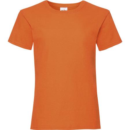 Valueweight T Girls in Orange von Fruit of the Loom (Artnum: F288K