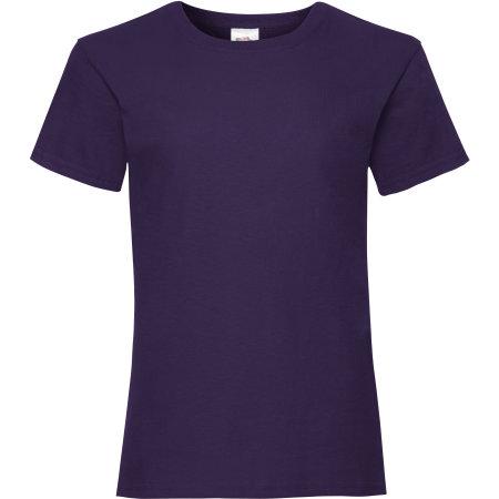 Valueweight T Girls in Purple von Fruit of the Loom (Artnum: F288K