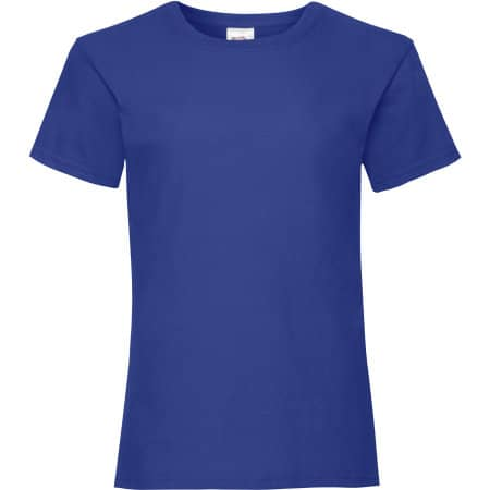 Valueweight T Girls in Royal Blue von Fruit of the Loom (Artnum: F288K