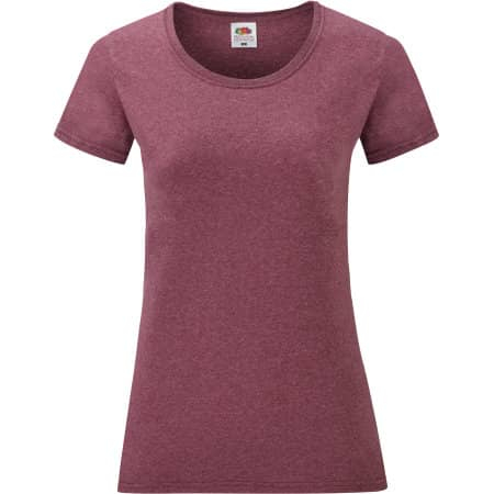 Valueweight T Lady-Fit in Heather Burgundy von Fruit of the Loom (Artnum: F288N