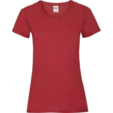 Valueweight T Lady-Fit in Red von Fruit of the Loom (Artnum: F288N
