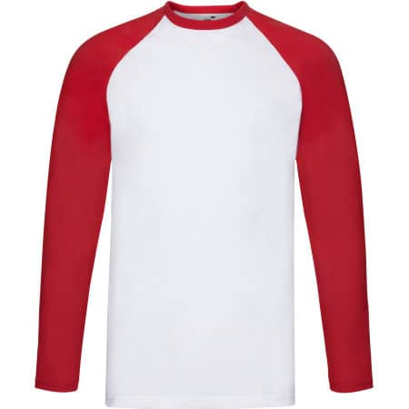 Long Sleeve Baseball T von Fruit of the Loom (Artnum: F296