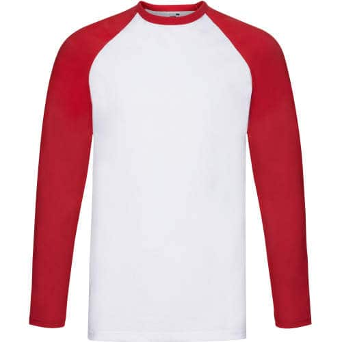 Fruit of the Loom - Long Sleeve Baseball T