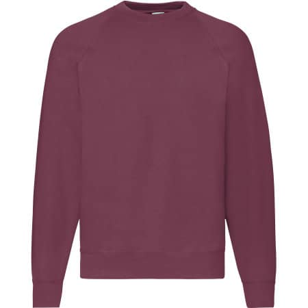Classic Raglan Sweat in Burgundy von Fruit of the Loom (Artnum: F304