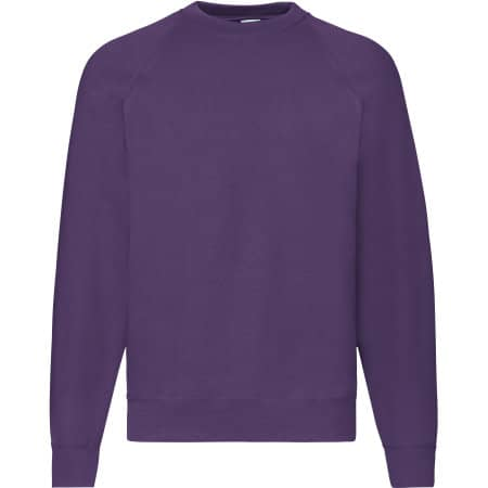 Classic Raglan Sweat in Purple von Fruit of the Loom (Artnum: F304