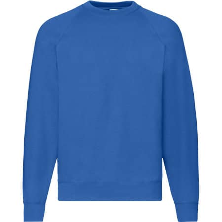 Classic Raglan Sweat in Royal Blue von Fruit of the Loom (Artnum: F304