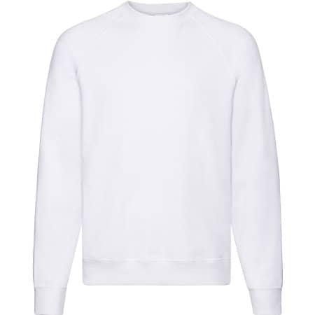 Classic Raglan Sweat in White von Fruit of the Loom (Artnum: F304