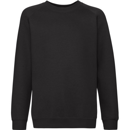 Premium Raglan Sweat Kids in Black von Fruit of the Loom (Artnum: F304K