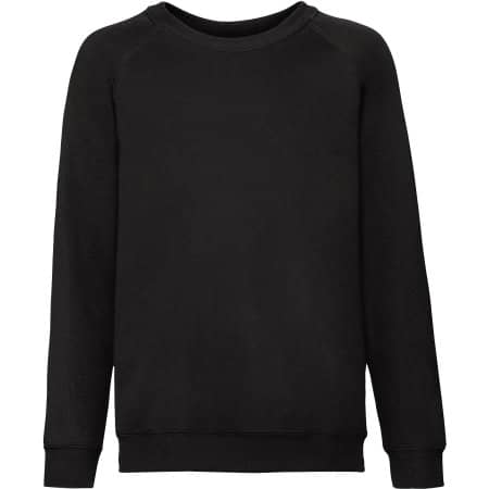 Classic Raglan Sweat Kids in Black von Fruit of the Loom (Artnum: F304NK