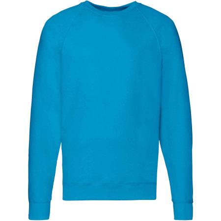 Lightweight Raglan Sweat in Azure Blue von Fruit of the Loom (Artnum: F310