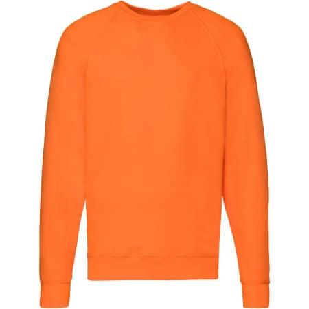 Lightweight Raglan Sweat in Orange von Fruit of the Loom (Artnum: F310