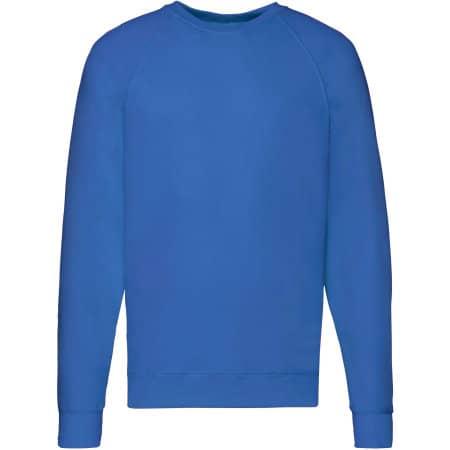 Lightweight Raglan Sweat in Royal Blue von Fruit of the Loom (Artnum: F310