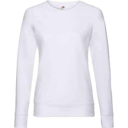 Lightweight Raglan Sweat Lady-Fit in White von Fruit of the Loom (Artnum: F315