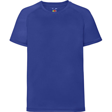 Performance T Kids in Royal Blue von Fruit of the Loom (Artnum: F350K