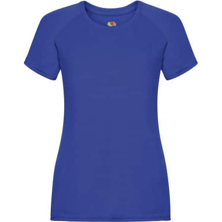 Performance T Lady-Fit in Royal Blue von Fruit of the Loom (Artnum: F355