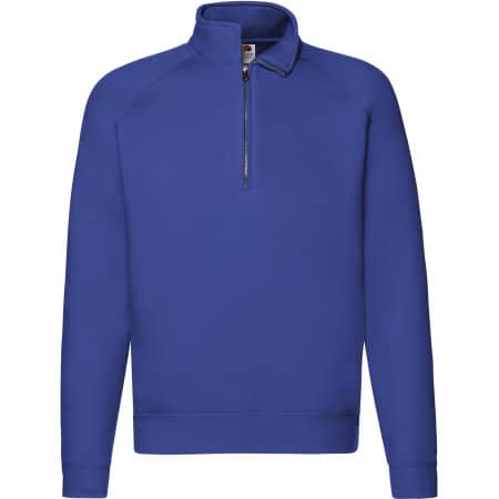 Premium Zip Neck Raglan Sweat in Royal Blue von Fruit of the Loom (Artnum: F382