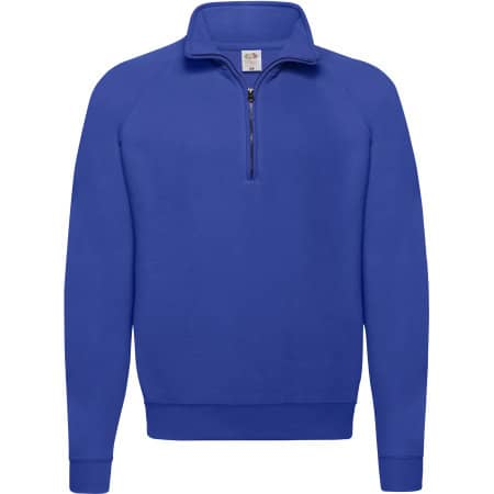 Classic Zip Neck Sweat in Royal Blue von Fruit of the Loom (Artnum: F382N