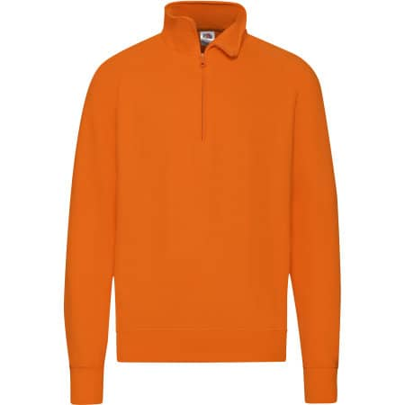 New Lightweight Zip Neck Sweat in Orange von Fruit of the Loom (Artnum: F385