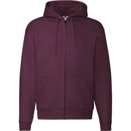 Premium Hooded Sweat-Jacket in Burgundy von Fruit of the Loom (Artnum: F401