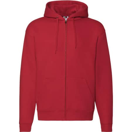 Premium Hooded Sweat-Jacket in Red von Fruit of the Loom (Artnum: F401