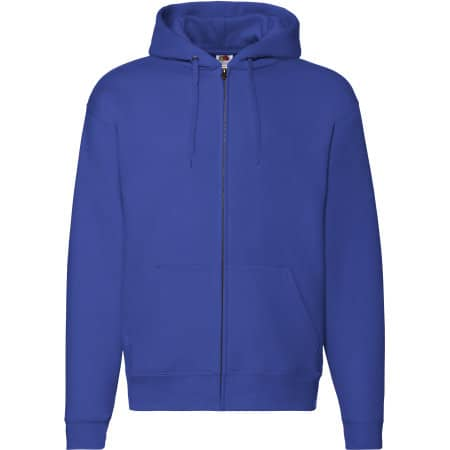 Premium Hooded Sweat-Jacket in Royal Blue von Fruit of the Loom (Artnum: F401