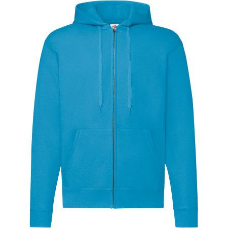 Classic Hooded Sweat Jacket in Azure Blue von Fruit of the Loom (Artnum: F401N