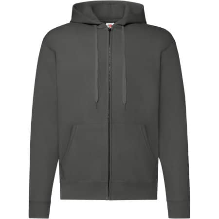 Classic Hooded Sweat Jacket in Light Graphite (Solid) von Fruit of the Loom (Artnum: F401N